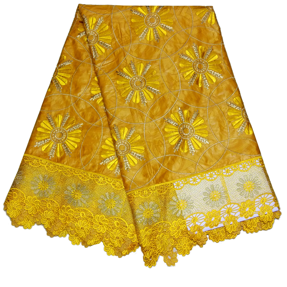African Bazin Riche Getzner 2019 New Arrival Gold Bazin Riche Fabric African Embroidery Lace Fabric
