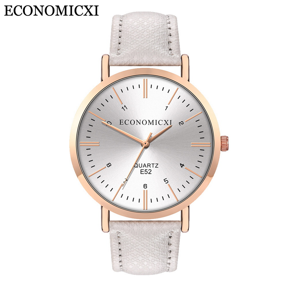 Women's Wristwatch Causal Analog Quartz Watch Round Dial With PU Leather Strap Band LL@17