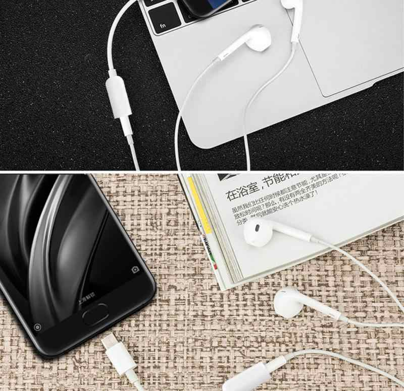 2020 USB 3.1 Type C Adapter to 3.5mm Earphone Headset Cable Audio Adapter Jack Adapter Audio Cable for Samsung Xiaomi Huawei
