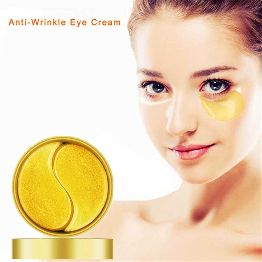 Original ouro osmanthus fragrans máscara de olho colágeno gel olho remendo rosto cuidados com a pele remover círculos escuros levantamento firmando soro 60 pçs