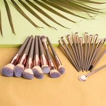 Escova de maquiagem única fundação pó blush corretivo highlighter sobrancelha sombra olho compõem escovas conjunto cosméticos ferramenta