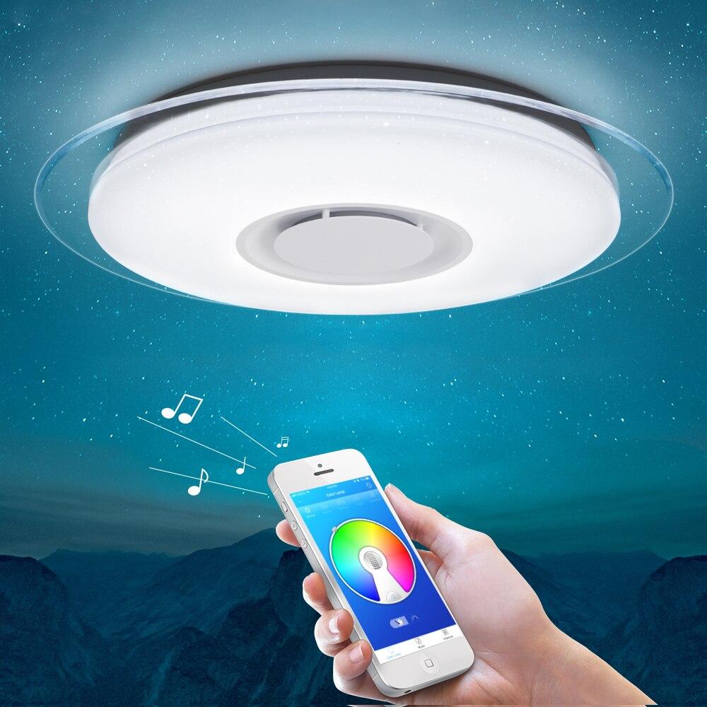 Smart led RGB Luz de teto Pode Ser Escurecido 25W 36W 52W controle APP Bluetooth & Música moderna Levou teto lâmpada sala de estar/quarto 220v