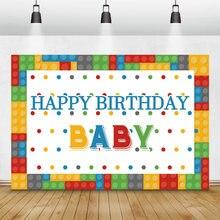 Laeacco День Рождения Вечеринка декорации мультфильм красочные