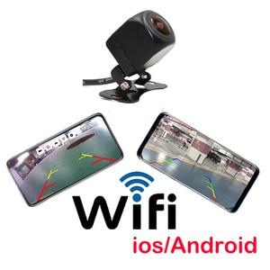 Wifi 720p câmera de visão traseira do carro europeu moldura da placa de licença câmera reversa para ios android telefone móvel câmera de backup