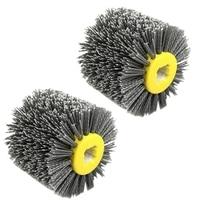 2 uds. Alambre abrasivo de Nylon Dupont rueda pulidora cepillo eléctrico para carpintería metal  P120 y P80|Pulidores| |  -