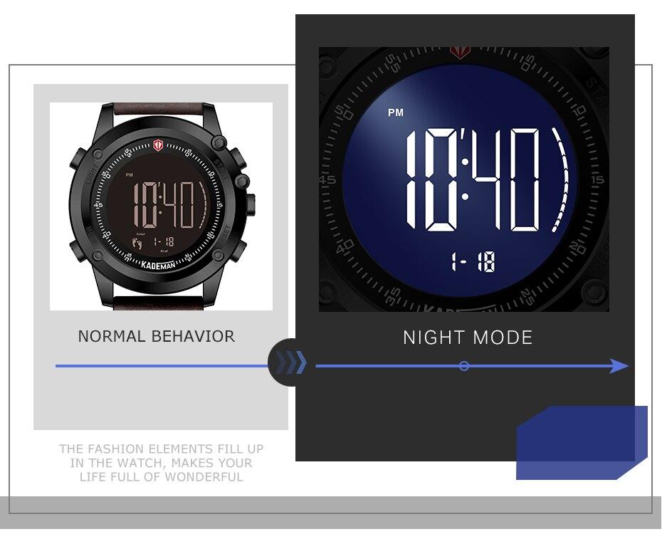 relógios de pulso passos contador 3atm relógio