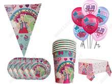JOJO siwa предметы для вечеринки, сувениры комплект JOJO siwa салфетки пластины скатерть чашки ножи, вилки и ложки День рождения украшения для детей