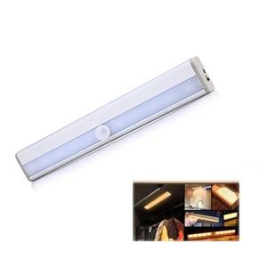 Image 1 - LED תנועת אוטומטי אור חישה לילה אור עבור חנות בגדי 3M דבק קלטת מנורת מלתחה