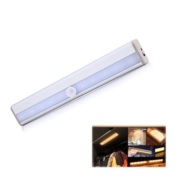 LED תנועת אוטומטי אור חישה לילה אור עבור חנות בגדי 3M דבק קלטת מנורת מלתחה