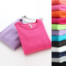 2-11Y T-shirts for Girls Autumn Winter Casual Candy Color Kids Shirts Solid Cotton Bottoming Tops Boy T Shirt Tees Girl Clothing