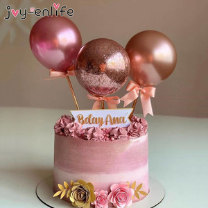 Image 2 - Flamingo Wedding Cake Toppers Balloon Cupcake Topper for Decoration Kids Birthday Party Baby Shower Topper wedding Cakes Baking