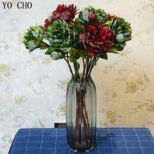 2 cabeças peônia artificial flores de seda falso palácio peônia bud casamento flores artificiais do falso para o casamento casa hotel decoração