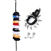 Nowa czapka z daszkiem Rack Hat uchwyt stojak organizer do domu do przechowywania drzwi szafa wieszak do przechowywania organizator kapelusz wieszak do drzwi w Haki i szyny od Dom i ogród na