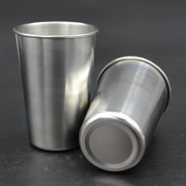 1 Pcs Stainless Steel Cup Metal Beer Wine Pint Glasses Coffee Tea Milk Mugs Home Drink Accessories 30ml/70ml/180ml/320ml 4