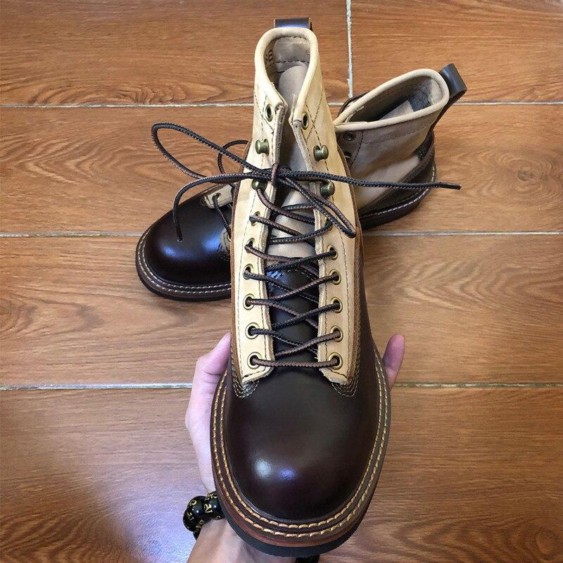 2019 мужские ботинки из натуральной кожи; сезон осень зима; ботильоны; модная обувь; слипоны; мужская повседневная обувь в деловом стиле с высо... - 3