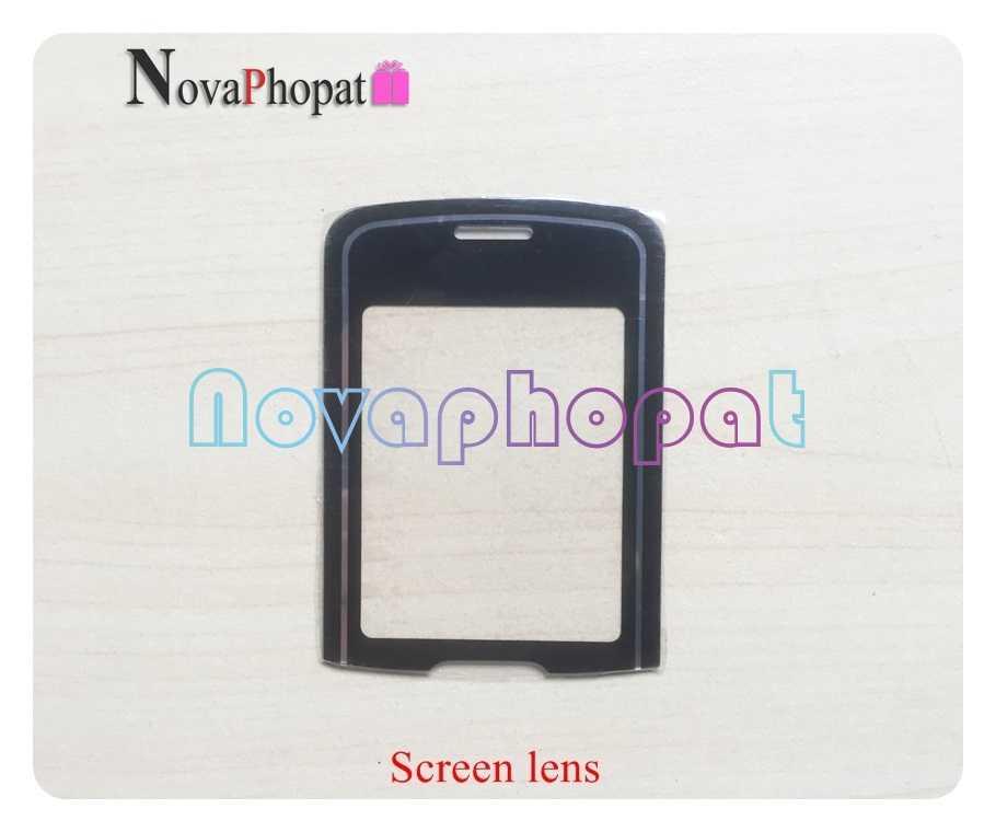 Novaphopat أسود زجاج الشاشة ل نوكيا 8600 شاشة LCD الخارجي زجاج عدسة لوحة المفاتيح عدسة + تتبع