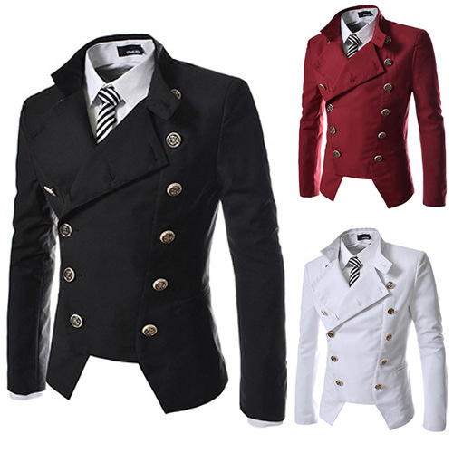 Hot Sales New Style Men Double Breasted Design Slim Fit Small Suit