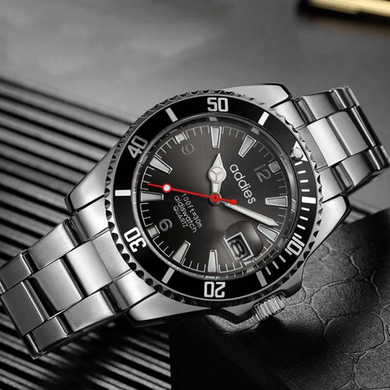 Man Watch 2019 Top Brand Reginald Watch Men Sports Watches Rotatable Bezel GMT Sapphire Glass Date Stainless Steel Watch Gifts