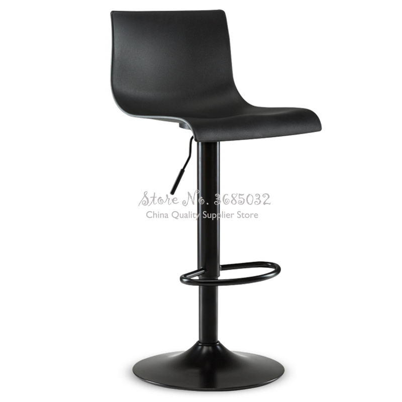 35% Plastic Seat Bar Chair Simple High Dining Stool Bar Chair Rotating Lifting Modern High Stool Swivel Bar Stools Stable Base