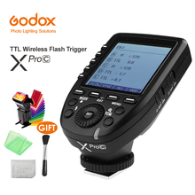 Godox XPro-C Flash Trigger Transmitter with E-TTL II 2.4G Wireless X System HSS 1/8000s LCD Screen for Canon DSLR Camera yongnuo yn622c kit wireless e ttl hss flash trigger kit yn622c 622c transceiver