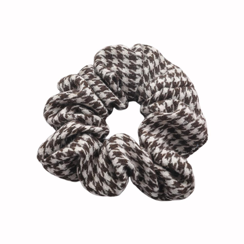 Fashion Plaid Scrunchies Women Check Plaid Hair Bands Tail Scrunchies Hair Accessories Rope Hair Hair Tie Hair Girl Holder T8Y4
