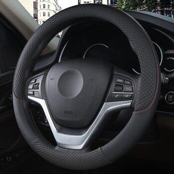 Car Steering-Wheel Cover Black Auto Steering Wheel 38CM wheel cover Interior accessories car Anti Slip