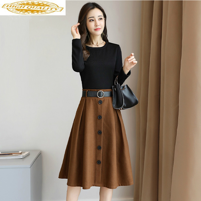 Spring Summer Dress for Womens Korean Version of The Self-cultivation Temperament Dress Long Sleeve Elegant Dress Vestidos LW069 image