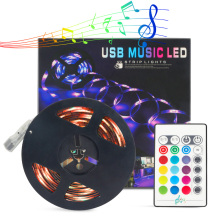 5M/2M Music LED Strip RGB 5050 LED Strip Light Bluetooth Music Strip IP65 Flexible Strip LED Ribbon Tape TV Background Lighting