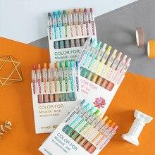 Stylo Gel série Morandi, 9 couleurs, pointe à balle 0.55mm, recharge, stylo de couleur créatif pour enfants, peinture Graffiti, fourniture artistique