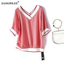 Womens Loose Fit Summer T-shirt 100/% Cotton Oversize Korean Fashion Tops S-5XL B