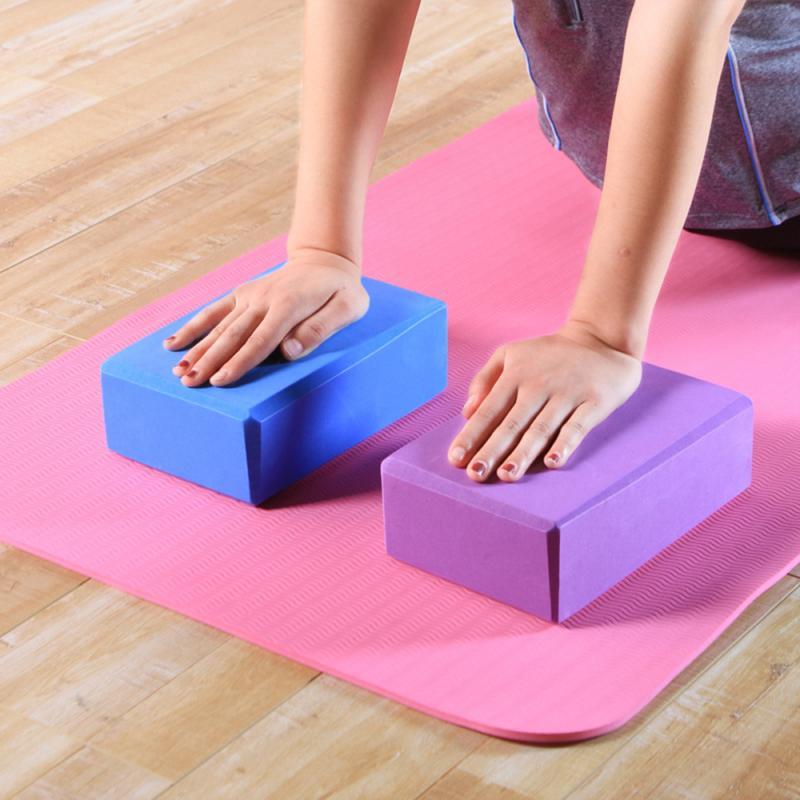 EVA Gym Blocks Foam Brick Training Exercise Fitness Set Tool Yoga Bolster Pillow Cushion Stretching Body Shaping Health Training