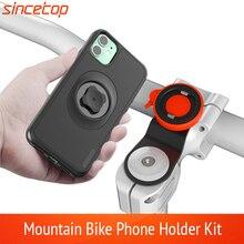 Dağ bisiklet telefon tutucu iPhone 11Pro X MAX Xr 8 artı 7 SE bisiklet dağı braketi klip döndür standı kiti darbeye dayanıklı durumda