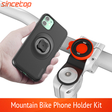 Mountain Bike Phone holder for iPhone 11Pro X MAX Xr 8plus 7 SE bicycle Mount Bracket Clip rotate Stand Kit With shockproof case