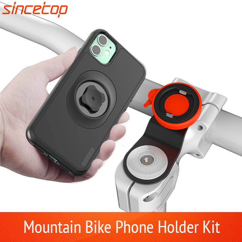 Mountain Bike Phone Holder For IPhone 11Pro XS MAX Xr 8plug 7 6 Bicycle Mount Bracket Clip Rotate Stand Kit With Shockproof Case