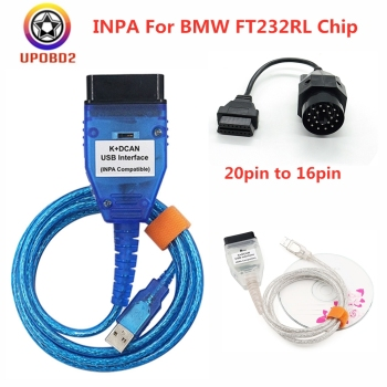 INPA For BMW K DCAN K+CAN With FT232RL Chip Switch For BMW INPA K CAN K+DCAN USB Interface Diagnostic Cable 20pin OBD2 Cable image