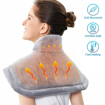 Winter Electric Heating Pad Moist Neck Back Shoulder Heating Pad Warmer Pain Relief Heat Therapy Temperature EU US Controller eu us microcomputer body massager chair massage heating seat vibrator back neck massagem cushion heat pad for legs massageador