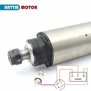 Image 5 - RU ฟรีเรือ 2.2KW Air Cooled Air Cooling แกนมอเตอร์ ER20 24000 RPM 80x23 0mm/220 V สำหรับ CNC ROUTER แกะสลักเครื่อง