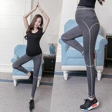 Спортивные брюки с высокой талией для йоги, Леггинсы для беременных, брюки для беременных, одежда, повседневная поддежка живота, леггинсы, штаны для беременных, Одежда для беременных