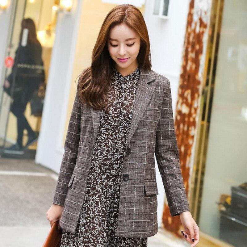 2019 autumn new ladies blazer Temperament trendy long-sleeved suit female Office jacket top Women's suit Casual jacket