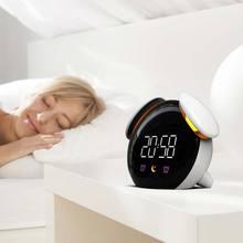 Colorful alarm clock smart electronic creative mini digital clock led watch watch small table clock luminous mute