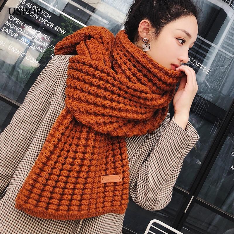 USPOP 2019 New winter   scarf   fashion women long   scarves   female vintage large shawl soft warm   wraps   pashmina