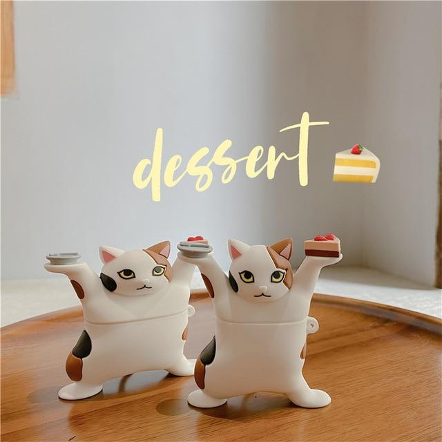 3D תוספות חתול רך אוזניות מקרה עבור Airpods 3 2 1 פרו אלחוטי טעינה תיק קריקטורה כיף חמוד מגן כיסוי