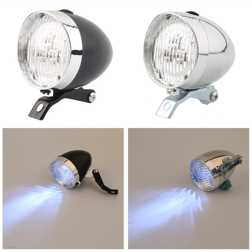 Hot 3 LED Fiets Koplamp Bike Front Light Hoge Kwaliteit Retro Koplamp Vintage Zaklamp Lamp gratis verzending