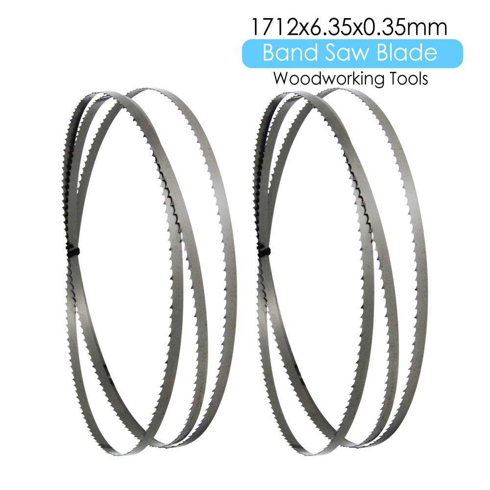 "2pcs 67-3/8"" Bandsaw Blade 1712 X 6.35 X 0.35mm TPI 6 For Draper Charnwood Metabo BAS250 Cutting Wood Metal Plastic"