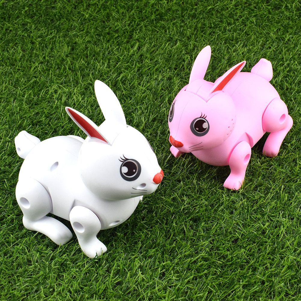 Novelty Funny Plastic Electric Rabbit Pink Rabbit Little Bunny Model Toy
