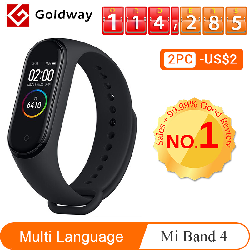 Xiaomi mi Band 4 pulsera inteligente 3 colores Pantalla AMOLED mi band 4 Smartband Fitness Traker Bluetooth deporte impermeable inteligente banda