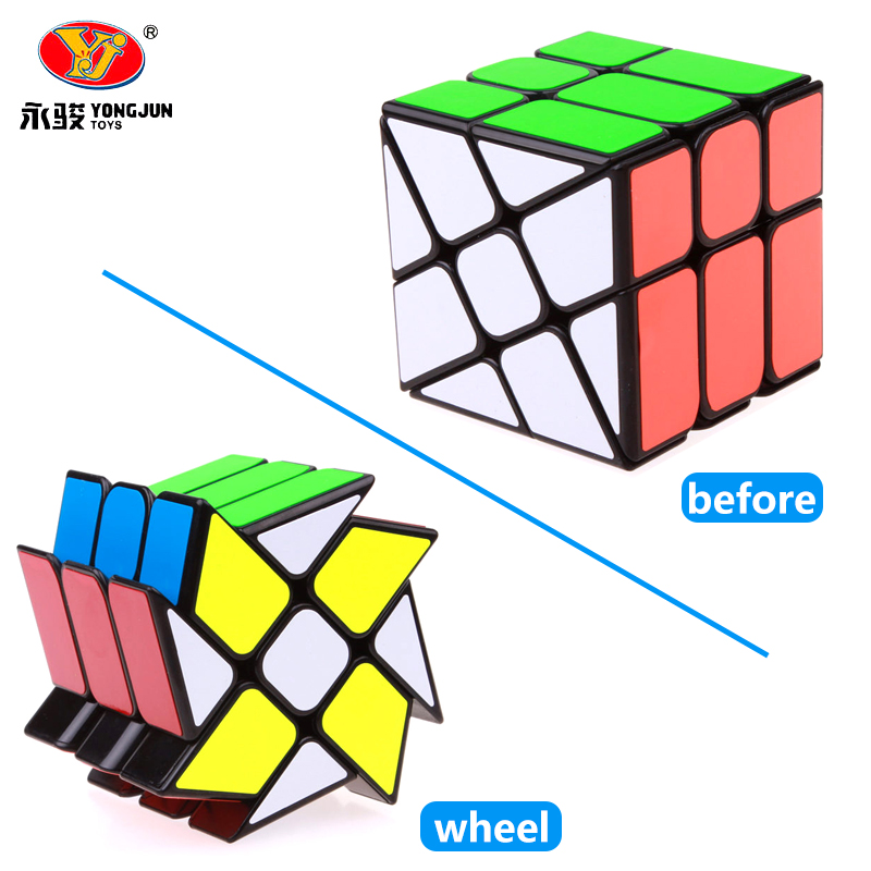 Yongjun YJ Wind Wheel Cubes 3x3x3 Magic Puzzle Cube Speed Cubo Magico Professional Learning Educational Toys For Kids Gift