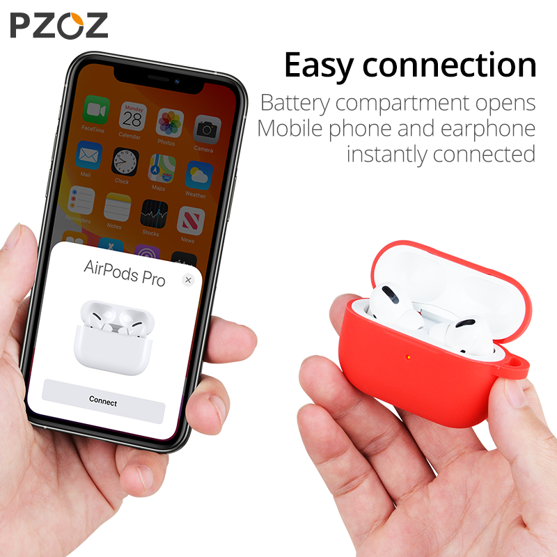 PZOZ For airpods pro case Cover Silicone Wireless Bluetooth for apple airpods 3 tips ear Non-slip Case 2019 fundas
