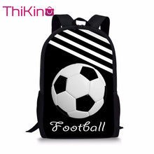 Thikin School Bags for Boys stripe Football Backpack Kids Supplies Student Shoulder Bag Children Mochila