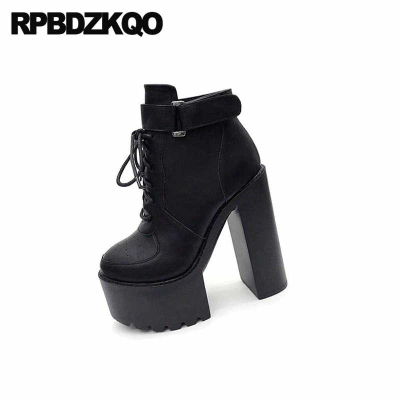 Gothic platform laarzen punk sexy vrouwelijke wit goth chunky fetish hoge hakken stripper zwart 15cm dames vrouwen booties demonia